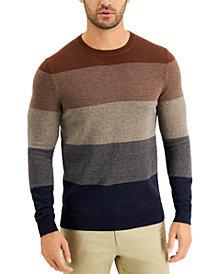 Tasso Elba Men's Color-Block Crewneck Sweater, Created for Macy's