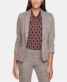 Elbow-Patch One-Button Blazer