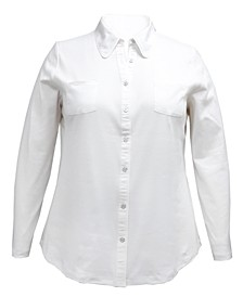 Plus Size Cotton Knit Shirt, Created for Macy's