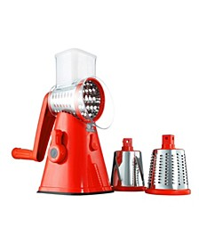 NutriSlicer 3-in-1 Spinning/Rotating Mandoline and Countertop Food Slicer and Grater