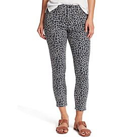 Mid-Rise Printed Skinny Ankle Jeans