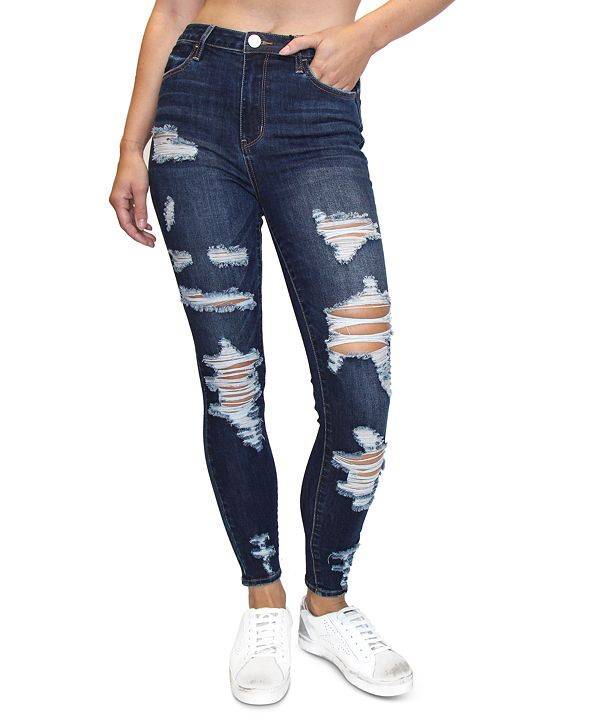 Almost Famous Juniors' Distressed Skinny Jeans