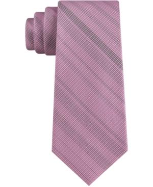 Calvin Klein Men's Thin Stripe Skinny Tie