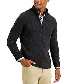 Tasso Elba Men's Quarter-Zip Cashmere Sweater, Created for Macy's