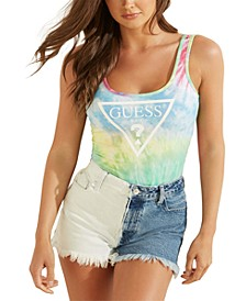 Tie-Dyed Low-Back Bodysuit