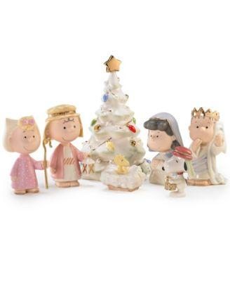 Peanuts 7-Piece Christmas Pageant Figurines