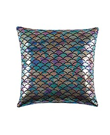 "Mermaid Ombre 18"" L x 18"" W Decorative Pillow"