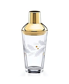 Holiday Gold Metal Cocktail Shaker