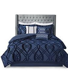 Dolores 7 Piece Queen Comforter Set