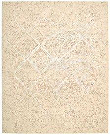 "Silk Elements SKE20 Beige 8'6"" x 11'6"" Area Rug"