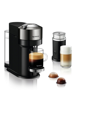 Nespresso Vertuo Next Deluxe Coffee and Espresso Maker by Breville, Dark Chrome with Aeroccino Milk Frother