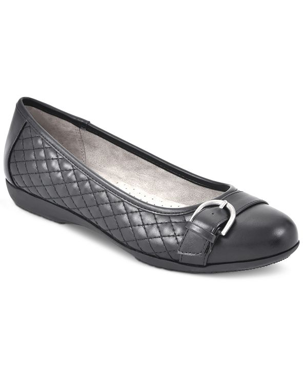 White Mountain Cadence Buckled Flats
