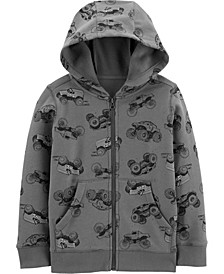 Little Boys Zip-Up Fleece Hoodie
