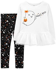 Toddler Girl 2-Piece Ghouls Rule Halloween Tee & Legging Set