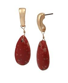 Jasper Stone Drop Earrings