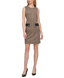 Houndstooth A-line Dress
