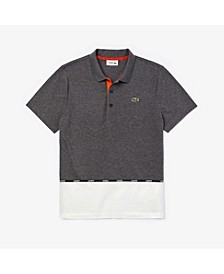 Men's SPORT Short Sleeve Polo Shirt with Lacoste Logo Tape