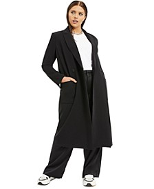 Plus Size Suiting Long Coat, Created for Macy's