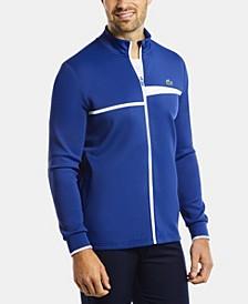 Men's SPORT Long Sleeve Full-Zip Tennis Sweatshirt with Asymmetrical Stripes
