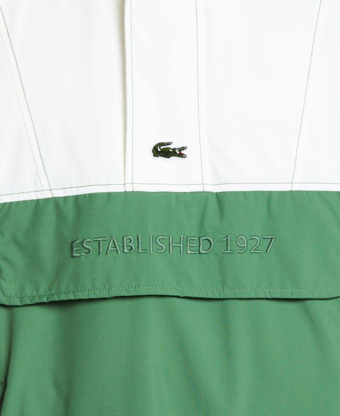 Lacoste Men's LIVE Long Sleeve Colorblock Parka Jacket with Oversized Lacoste Print & Reviews - Coats & Jackets - Men - Macy's