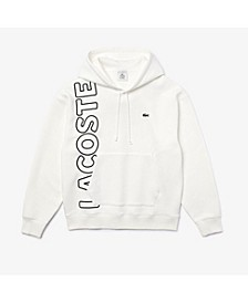 Men's LIVE Loose Fit Long Sleeve Hoodie with Embroidered Logo Lettering