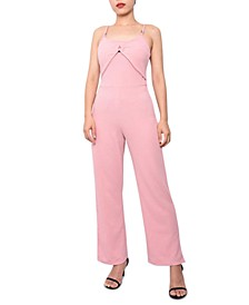 Juniors' Ring-Detail Jumpsuit