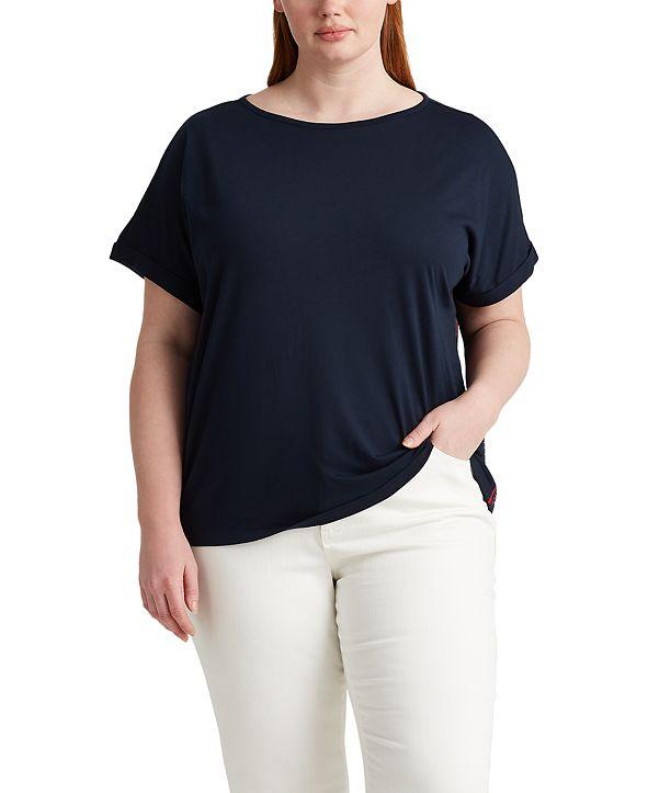 Lauren Ralph Lauren Plus Size Boatneck T-Shirt