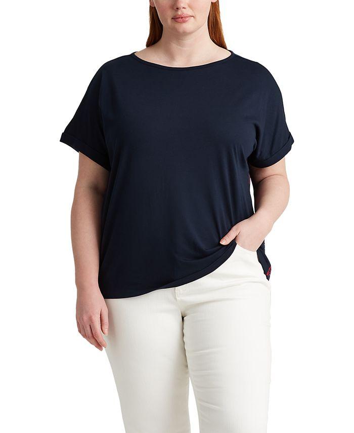Lauren Ralph Lauren - Plus Size Boatneck T-Shirt