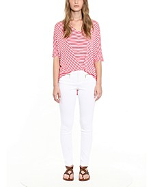 Striped Twist-Hem Top