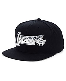 Los Angeles Lakers Black and Silver Snapback Cap