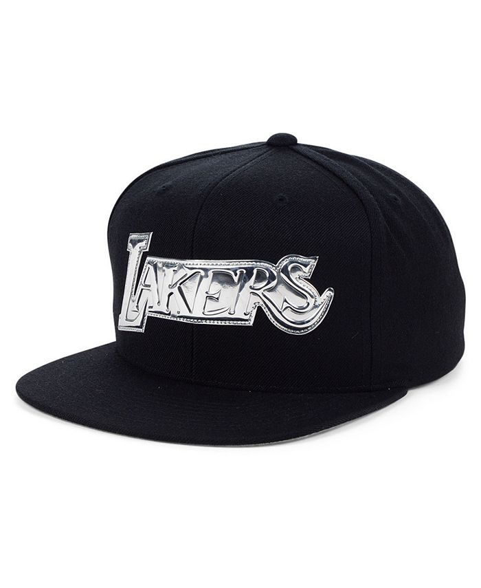 Mitchell & Ness - Los Angeles Lakers Black and Silver Snapback Cap