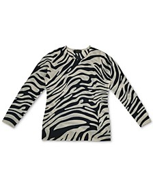 Cashmere Zebra-Print Sweater, In Regular and Petite, Created for Macy's