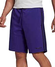 "Men's Essentials 3-Stripes 10"" Fleece Shorts"