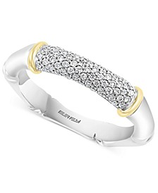 EFFY® Diamond Pavé Ring (1/4 ct. t.w.) in Sterling Silver & 18k Gold-Plate