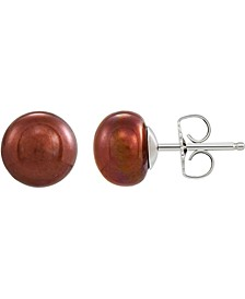 Chocolate Cultured Freshwater Pearl (8-9mm) Stud Earrings, Created for Macy's