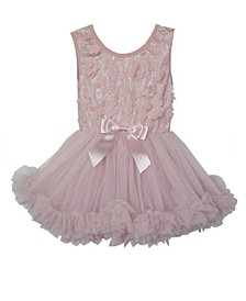 Baby Girls Flower Ruffle Dress