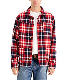 Men's Plaid Chore Jacket, Created for Macy's