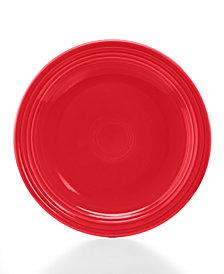 """Fiesta Scarlet 10.5"""" Dinner Plate"""