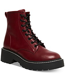 Carra Lace-Up Lug Sole Combat Boots