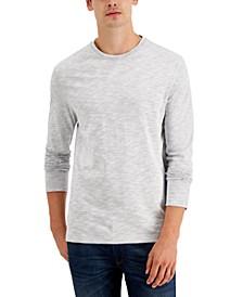 Men's Long-Sleeve Reverse-Print T-Shirt