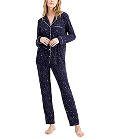 Women's Ultra-Soft Printed Pajama Set, Created for Macy's