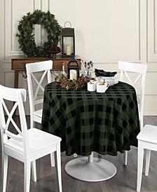 Farmhouse Living Holiday Buffalo Check Round Tablecloth