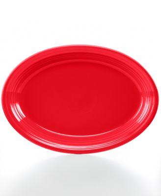 """Scarlet 13"""" Oval Platter"""