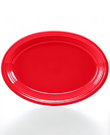 """Fiesta Scarlet 13"""" Oval Platter"""