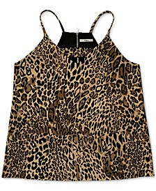 Zip Back Cheetah-Printed Camisole, Created for Macy's