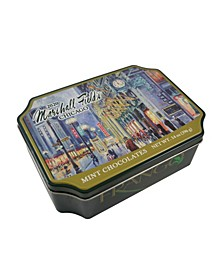 Marshall Field's Holiday Clock Tin Wrapped Milk Mint Chocolates, 14 Oz