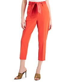 Hope Cotton Belted Cropped Pants
