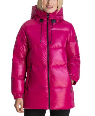 High-Shine Hooded Down Puffer Coat, Created for Macy's