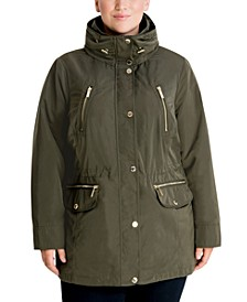 Plus Size Hooded Anorak Jacket, Created for Macy's