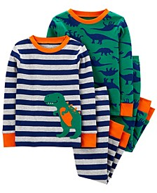 Baby Boy  4-Piece Dinosaur Snug Fit Cotton PJs